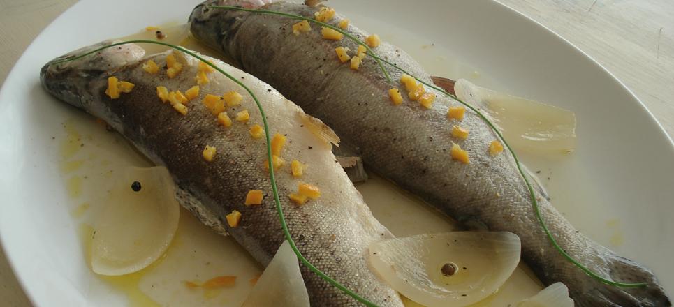 Truchas al mojo de ajo